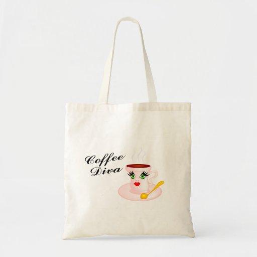 Diva del café bolsa tela barata