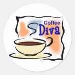 Diva del café pegatina