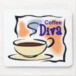 Diva del café tapetes de ratones