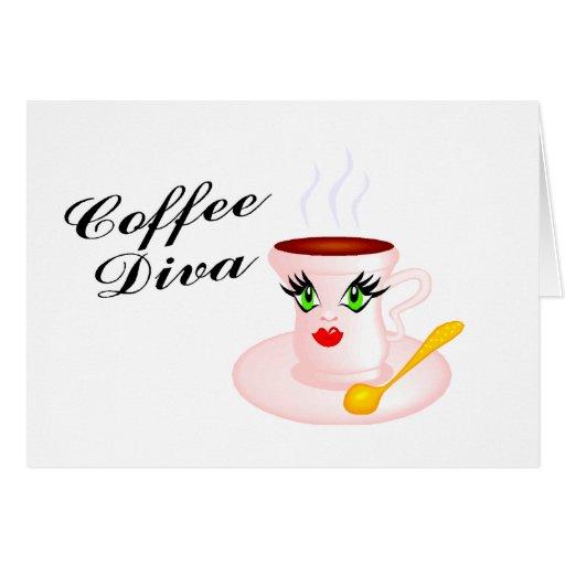 Diva del café tarjeta de felicitación
