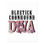 DIVA del Coonhound de Bluetick Tarjeta Postal