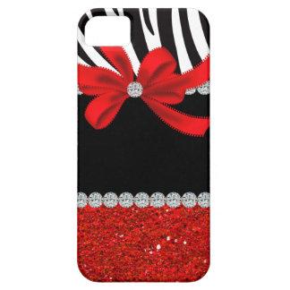 Diva del diamante brillo rojo iPhone 5 carcasas