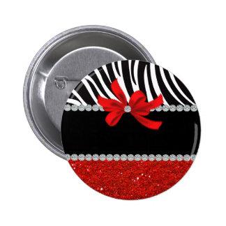 Diva del diamante (brillo rojo) pin redondo de 2 pulgadas