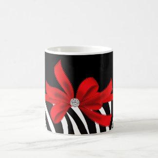 Diva del diamante (roja) taza de café