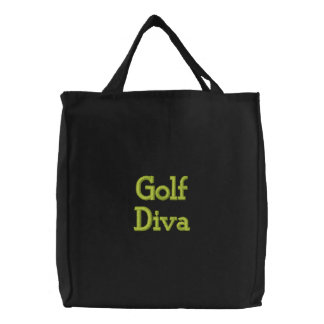 Diva del golf bolsa de lienzo