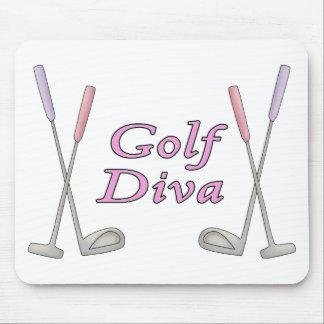 Diva del golf alfombrilla de ratones