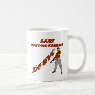 Diva del guardián de la ley taza de café