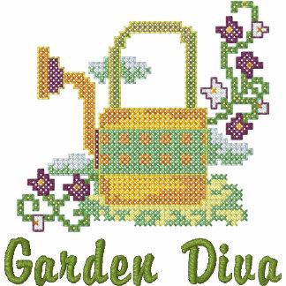 Diva del jardín sudadera con serigrafía
