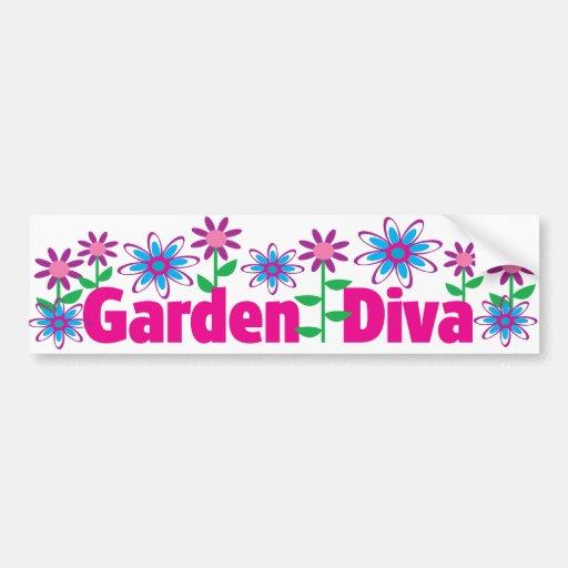 Diva del jardín pegatina de parachoque