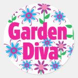 Diva del jardín pegatinas
