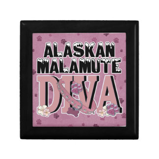 DIVA del Malamute de Alaska Caja De Regalo