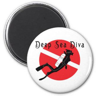 Diva del mar profundo imán de nevera