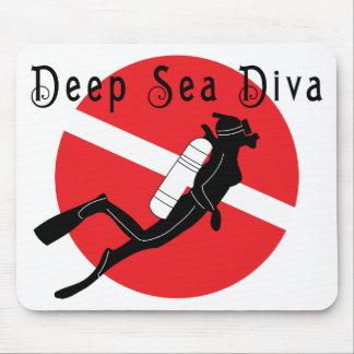 Diva del mar profundo alfombrilla de ratones