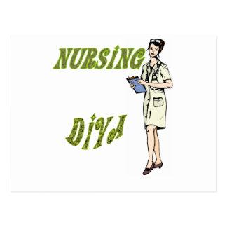 Diva del oficio de enfermera tarjetas postales