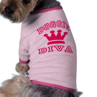Diva del perrito camisetas mascota