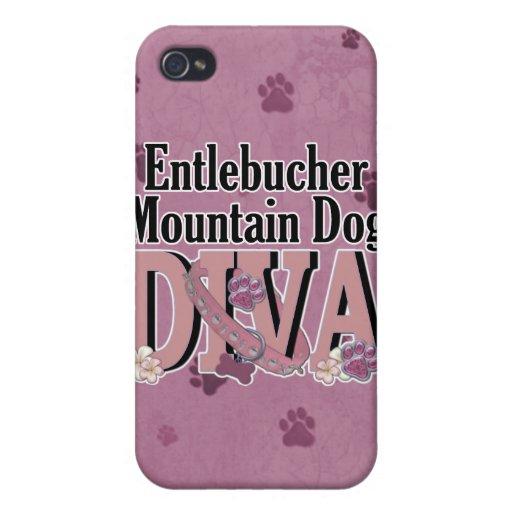 DIVA del perro de la montaña de Entlebucher iPhone 4 Protectores