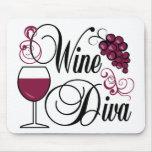 Diva del vino alfombrilla de ratones