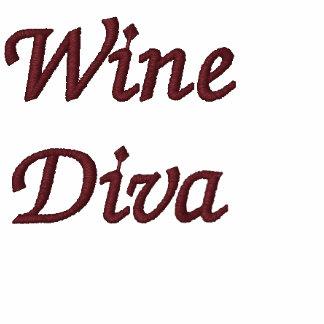 Diva del vino sudadera bordada con serigrafía