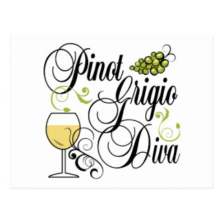 Diva del vino de Pinot Grigio Postal