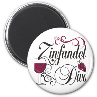 Diva del vino de Zinfandel Imán De Frigorifico