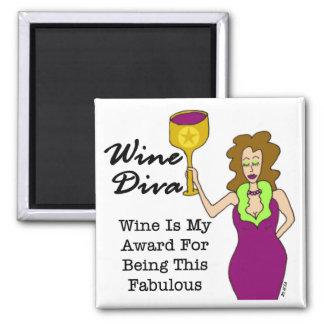 """Diva del vino """"fabulosa """" iman de nevera"""