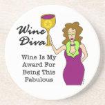 """Diva del vino """"fabulosa """" posavasos diseño"""