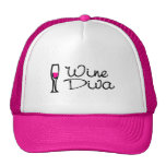 Diva del vino gorras de camionero
