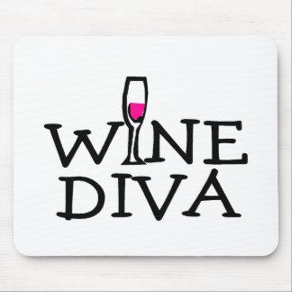 Diva del vino mousepads