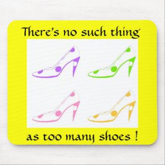 Diva del zapato mousepads
