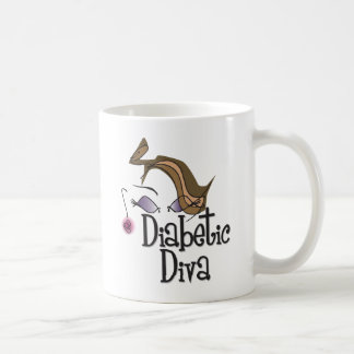 Diva diabética taza básica blanca