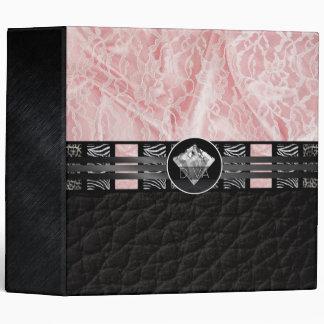 Diva Diamond Zebra Lace Vinyl Binders