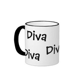 Diva, Diva Ringer Coffee Mug