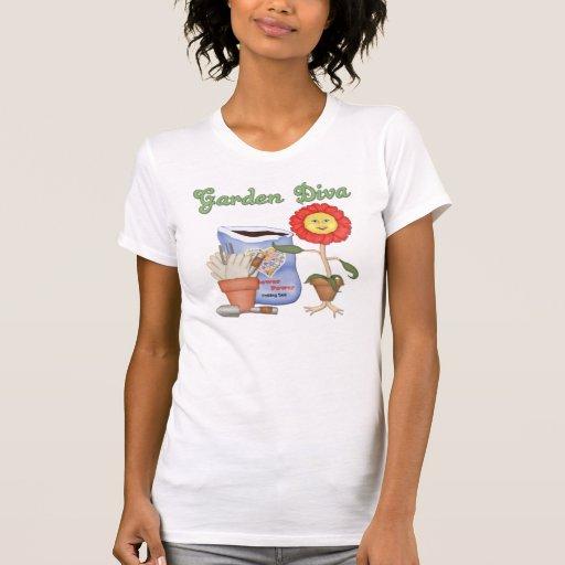 Diva divertida del jardín camiseta
