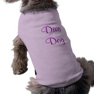 Diva Dog (purple) Dog Tee Shirt