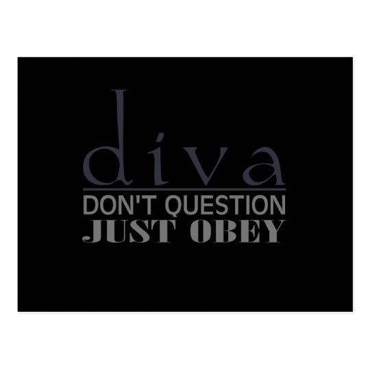 Diva: Don't Question Postcard