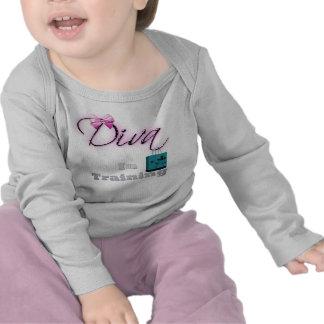 Diva en camiseta del bebé del entrenamiento