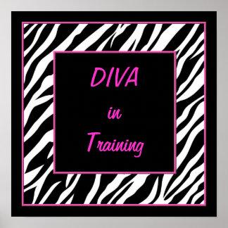 Diva en poster del entrenamiento