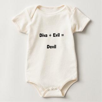 Diva + Evil = Devil Baby Bodysuit