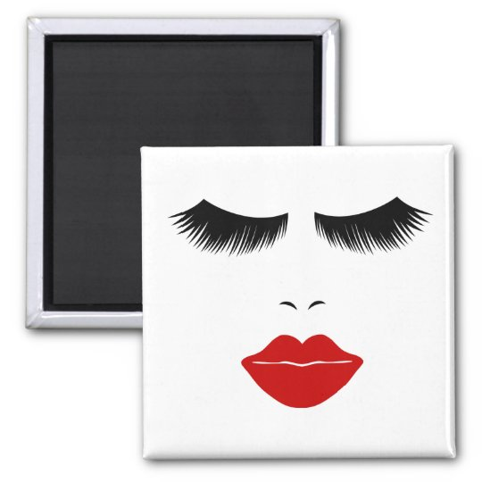 Diva Fashion Face With Lashes & Full Lips Magnet