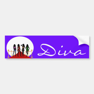 Diva Fashion Girls on Red Carpet Bumper Sticker