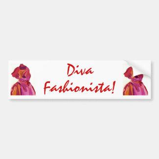 Diva Fashionista Autumn Reds Bumper Sticker