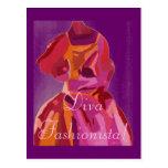 Diva Fashionista Autumn Reds Postcard