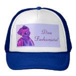 Diva Fashionista In Blue Hats