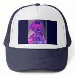 Diva Fashionista In Blue Trucker Hat