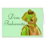 Diva Fashionista In Spring Card
