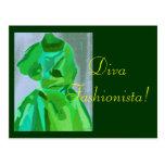 Diva Fashionista In Summer Post Card