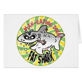 Diva Fat Shark Greeting Cards