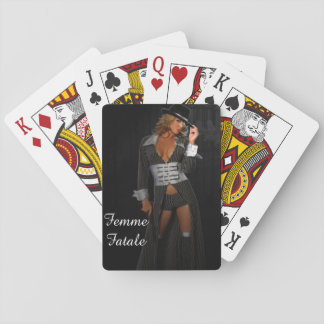 Diva Gangster Femme Fatale Playing Cards
