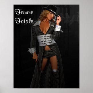 Diva Gangster Femme Fatale Poster