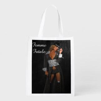 Diva Gangster Femme Fatale Reusable Grocery Bag